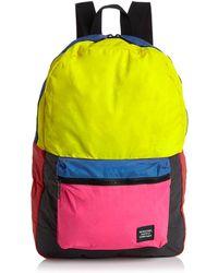 85a7d5fa3498 Herschel Supply Co. - Daypack Color-block Denim Backpack - Lyst