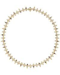 Temple St. Clair - 18k Yellow Gold Foglia Multi - Gemstone & Diamond Statement Necklace - Lyst