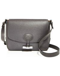 Lyst - Longchamp Roseau Croco Embossed Leather Shoulder Bag in Brown 244d30a483ecc