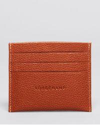 Longchamp Le Foulonné Card Case - Brown