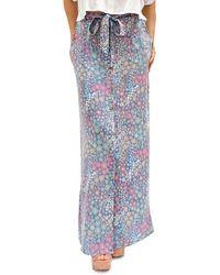 Billy T Gravy Train Floral Print Skirt - Blue