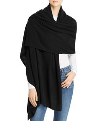 C By Bloomingdale's Cashmere Travel Wrap - Black