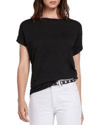 AllSaints Women's Cotton Lightweight Pure Imogen Boy T-shirt - Black