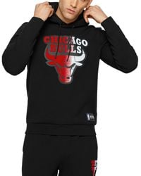 BOSS by Hugo Boss W Bounce Nba Chicago Bulls Relaxed Fit Hoodie - Black