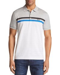 BOSS - Paddy Striped Regular Fit Polo Shirt - Lyst