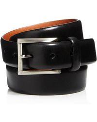 Trafalgar Men's Marco Leather Belt - Black