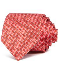 Ferragamo - Fiocco Linked Gancini Silk Classic Tie - Lyst