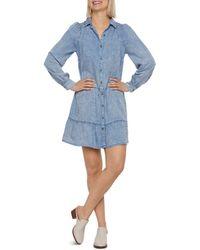 Billy T Flounce Dress - Blue