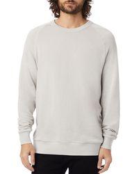 Alternative Apparel Washed - Terry Champ Sweatshirt - Gray