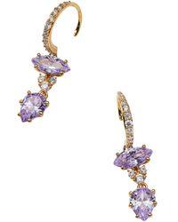 Nadri - Cubic Zirconia Double Drop Earrings - Lyst