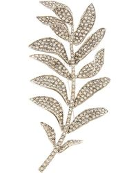 Oscar de la Renta - Pave Leaf Brooch - Lyst