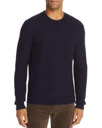 Bloomingdale's Tipped Crewneck Sweater - Blue