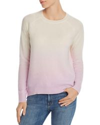 Aqua - Cashmere Dip - Dye Cashmere Sweater - Lyst
