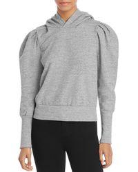 AG Jeans Puff Sleeve Hoodie - Grey
