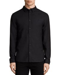 AllSaints Huntingdon Slim Fit Button - Down Shirt - Black