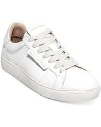 AllSaints - Sheer Lace Up Sneakers - Lyst