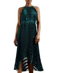 Ted Baker - Pleated Maxi Dress - Lyst