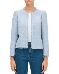 Kate Spade Tinsel Tweed Jacket - Blue