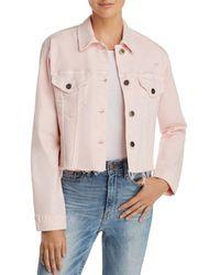 Pistola Naya Crop Denim Jacket - Pink