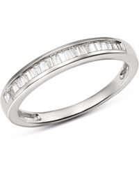 Bloomingdale's Diamond Tapered Baguette Channel Band In 14k White Gold