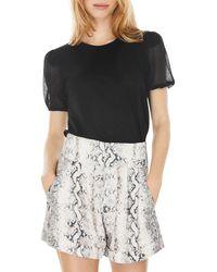 Generation Love Shailene Crystal Puff Sleeve Top - Black