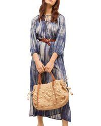 Gerard Darel Seina Silk Printed Dress - Blue