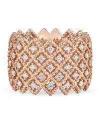 Roberto Coin 18k Rose Gold Roman Barocco Diamond Ring - Metallic