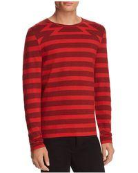 HUGO - Sluis Stripe Crewneck Sweater - Lyst