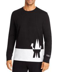 Moncler Logo-spliced Cotton-jersey Long-sleeve T-shirt - Black