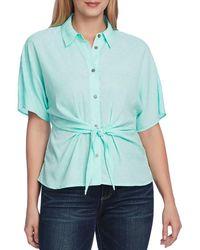 Vince Camuto Tie Front Shirt - Blue
