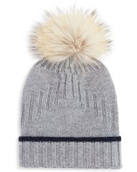 afc33d5b7a52a0 Lyst - Bloomingdale's Xribbed Wool-cashmere Beanie in Gray for Men
