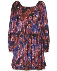 Vero Moda Nora Printed Tiered Dress - Blue