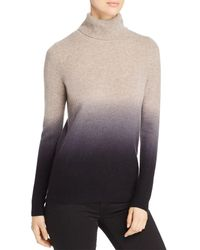 C By Bloomingdale's Dip - Dye Cashmere Turtleneck Sweater - Multicolor