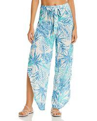 J Valdi Tulip Hem Swim Cover - Up Pants - Blue