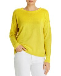 Eileen Fisher Crewneck Boxy Jumper - Yellow