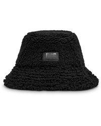 UGG Sherpa Faux Fur Bucket Hat - Black