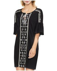 Vince Camuto - Embroidered Tunic Dress - Lyst