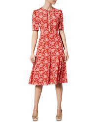 L.K.Bennett Montana Silk Dress - Red