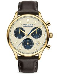 Movado Heritage Calendoplan Chronograph - Metallic