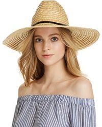 Aqua - Braided Straw Sun Hat - Lyst
