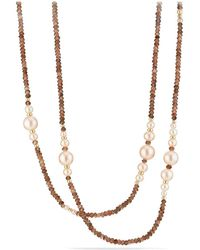 David Yurman - Solari Tweejoux Necklace In 18k Gold With Cultured Dyed Pink Freshwater Pearls And Andalusite - Lyst
