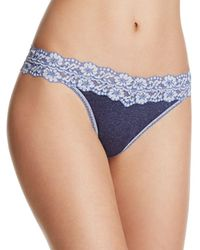 Hanky Panky - Heathered Jersey & Lace Original - Rise Thong - Lyst