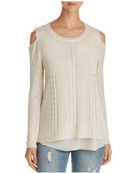 Sioni - Sequin Cold-shoulder Sweater - Lyst