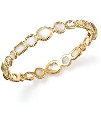 Ippolita 18k Gold Rock Candy® Mixed Stone Bangle Bracelet In Flirt - Metallic