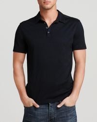 John Varvatos Knit Collared Pullover - Slim Fit - Black