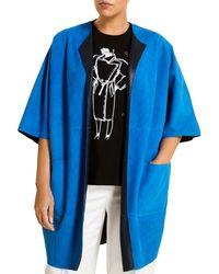 Marina Rinaldi Edison Suede Jacket - Blue