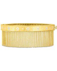Roberto Coin 18k Yellow Gold Venetian Princess Diamond Tassel Bangle Bracelet - Metallic
