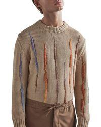 NN07 Jagged Stripe Knit Jumper - Brown