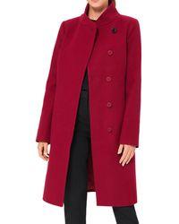 Hobbs Maisie Wool Blend Coat - Red