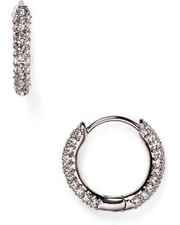 Nadri - Swarovski Crystal Hoop Earrings - Lyst